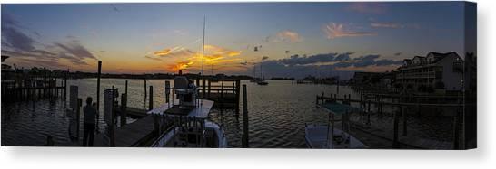 Silver Lake Sunset Panorama Canvas Print