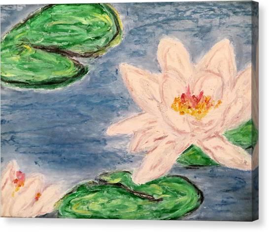 Silver Lillies Canvas Print