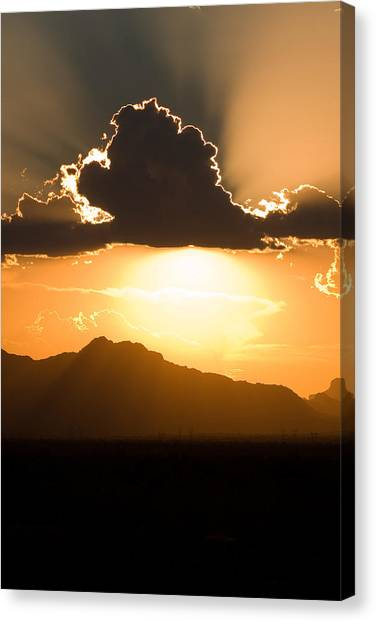 Canvas Print featuring the photograph Silver Lining by Brad Brizek