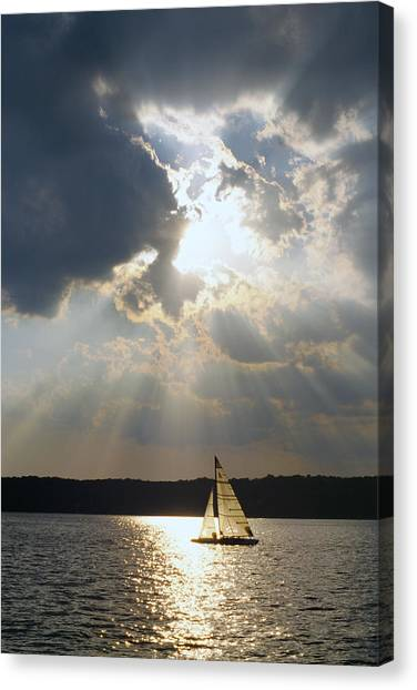 Silver Lining - Lake Geneva Wisconsin Canvas Print