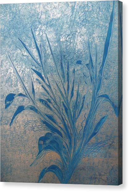 Silver Canvas Print by Nico Bielow