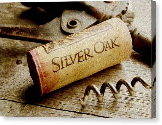 Wine Barrels Canvas Print - Silver Oak Cork Painting by Jon Neidert