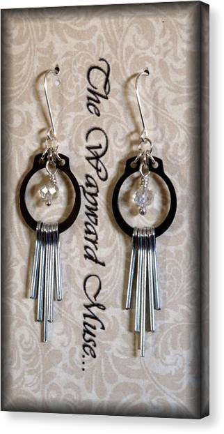 Artisan Jewelry Canvas Print - Silver Paddles by Jeannette Scranton