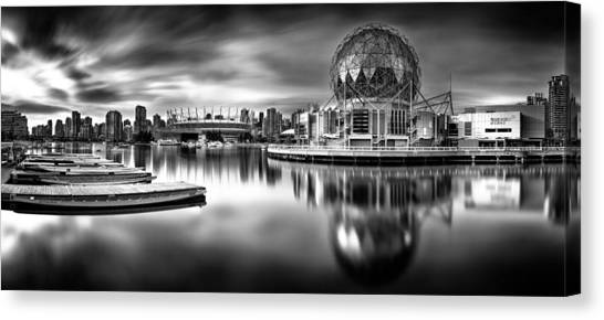 Vancouver Skyline Canvas Print - Silver-plated Vancouver by Alexis Birkill