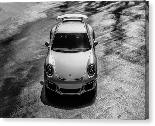 German Canvas Print - Silver Porsche 911 Gt3 by Douglas Pittman