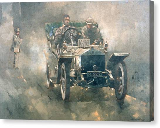Motoring Canvas Print - Silver Rogue With Eric  by Peter Miller