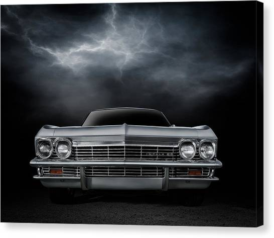 Lightning Canvas Print - Silver Sixty Five by Douglas Pittman