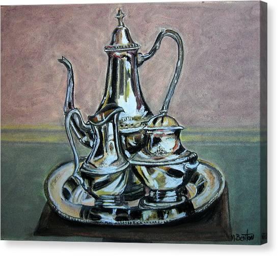 Silver Tea Set Canvas Print