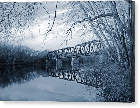 Canvas Print featuring the photograph Silver Wind Calm Before The Day by Jeremy McKay