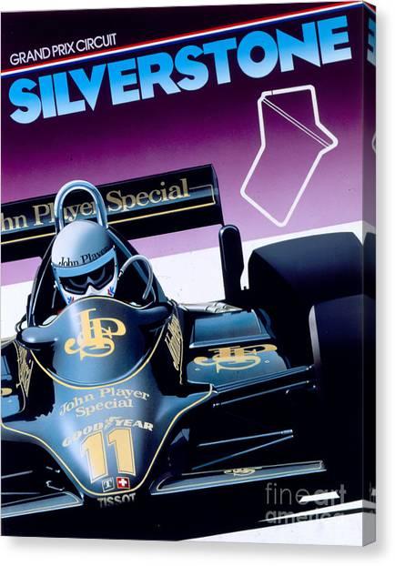Formula 1 Canvas Print - Silverstone by Gavin Macloud