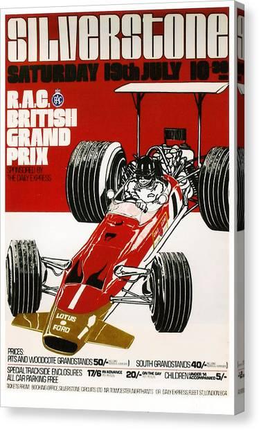 Silverstone Grand Prix 1969 Canvas Print