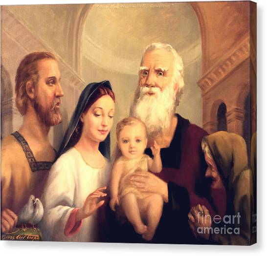 Simeon In The Temple Canvas Print