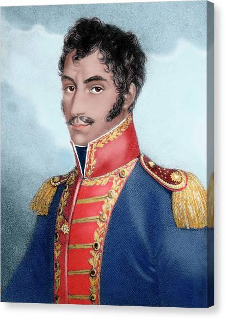 Venezuelan Canvas Print - Simon Bolivar (caracas, 1793-santa by Prisma Archivo