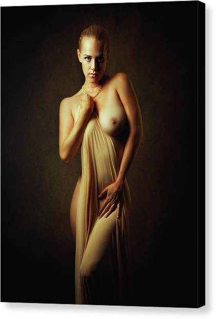 Necklace Canvas Print - Simple Beauty by Zachar Rise