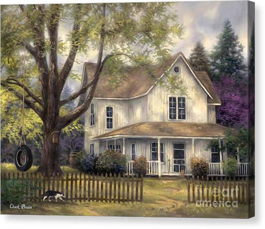 Folk Canvas Print - Simple Country by Chuck Pinson
