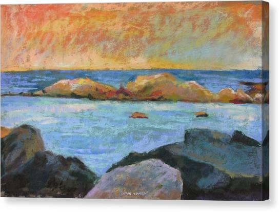 Simple Rock Landscape Canvas Print