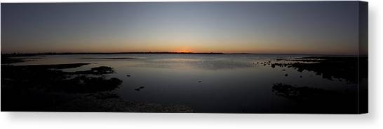 Simple Sunset Canvas Print by Michael James
