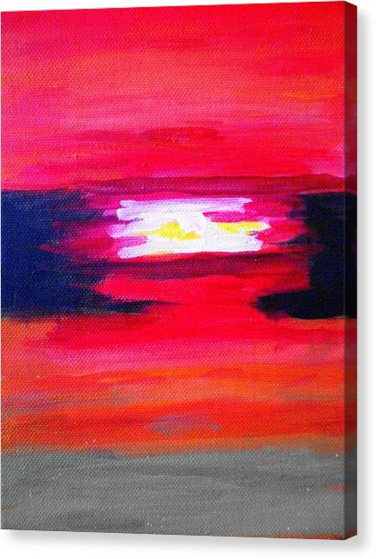 Simple Sunset Canvas Print By Tami Farina