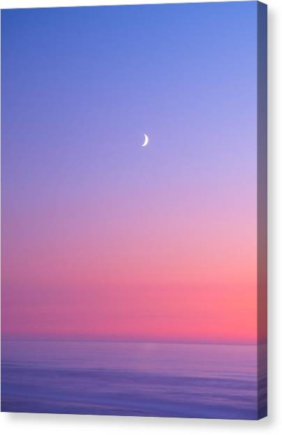 Moonlit Canvas Print - Simplistic Wonders Of The Earth by Darren  White