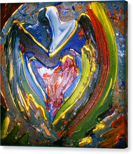 Canvas Print featuring the painting Simply Love by Ray Khalife