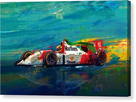 Formula 1 Canvas Print - Simply The Best by Alan Greene