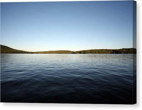 Simply Water And Sky Canvas Print