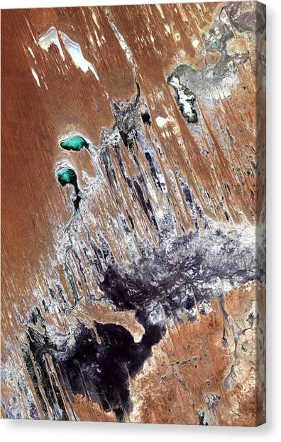 Satellite Canvas Print - Simpson Desert  Australia  by Anonymous
