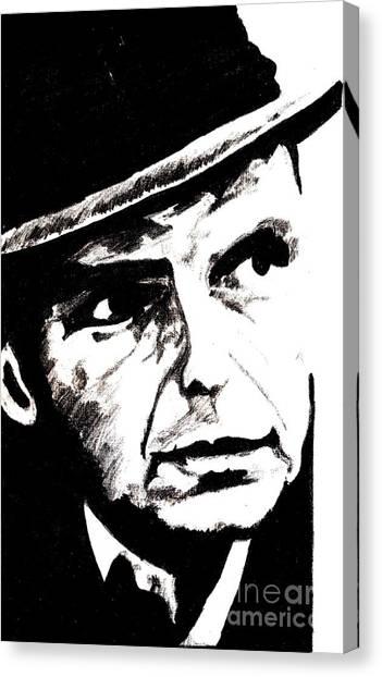 Frank Sinatra Canvas Print - Sinatra by Corina Hogan
