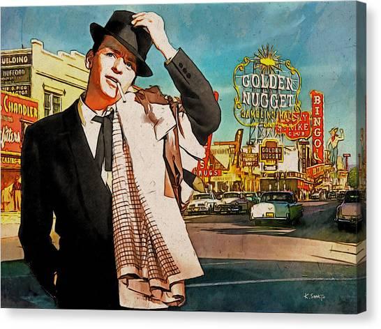 Sinatra In Vegas 1955 Canvas Print