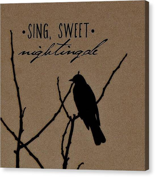 Snakes Canvas Print - Sing, Sweet Nightingale by Traci Beeson