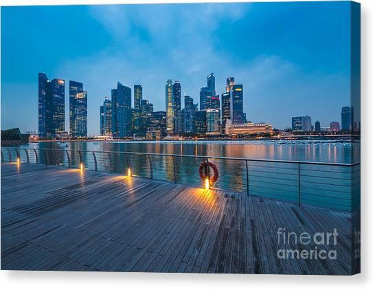 Singapore Skyline Canvas Print - Singapore 11 by Tom Uhlenberg