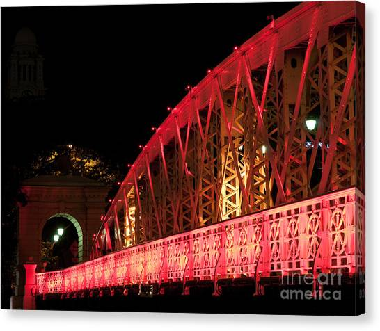 Singapore Anderson Bridge At Night Canvas Print