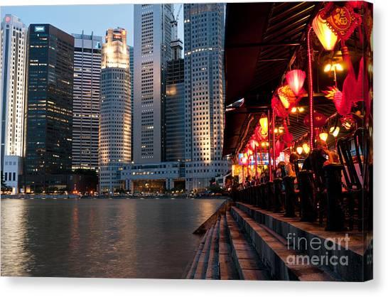 Singapore Boat Quay 02 Canvas Print
