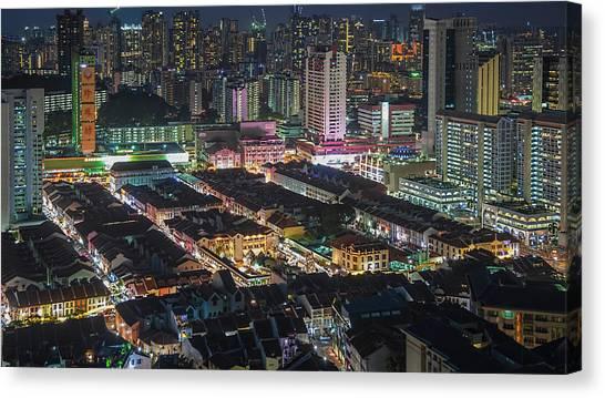 Chinese New Year Canvas Print - Singapore Chinatown by Edward Tian