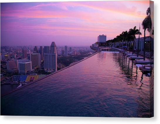 Singapore, Marina Bay Sands Hotel Canvas Print by Jaynes Gallery