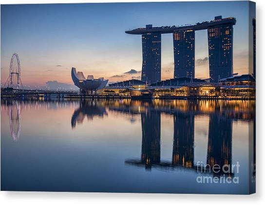 Singapore Skyline Canvas Print - Singapore Skyline by Colin and Linda McKie