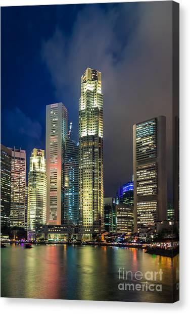 Singapore Skyline Canvas Print - Singapore Skyline by Fototrav Print