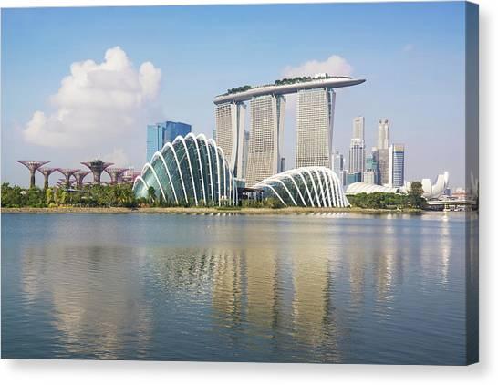 Singapore Skyline Canvas Print by Kokkai Ng