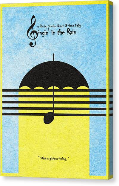 Raining Canvas Print - Singin' In The Rain by Inspirowl Design