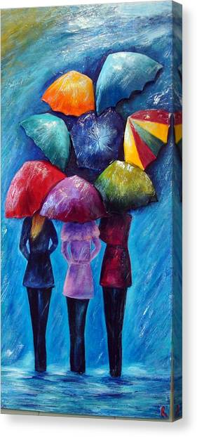 Singing In The Rain Canvas Print