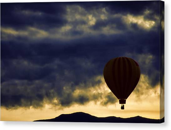 Ballooning Canvas Print - Single Ascension by Carol Leigh