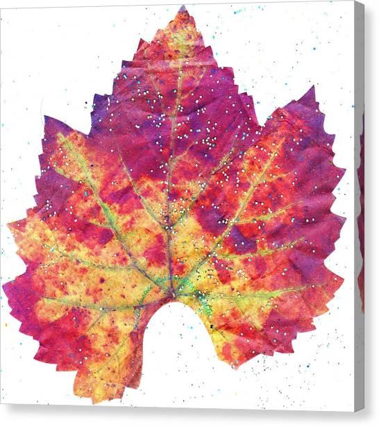 Canvas Print - Single Autumn Leaf by Anne-Elizabeth Whiteway