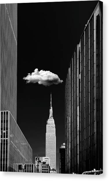 Street Canvas Print - Single Cloud by Jackson Carvalho