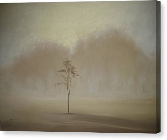 Single Tree - Pastel Canvas Print