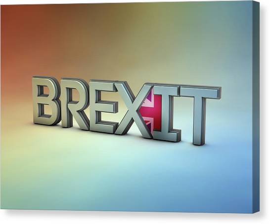 Brexit Canvas Print - Single Word Brexit by Ikon Ikon Images