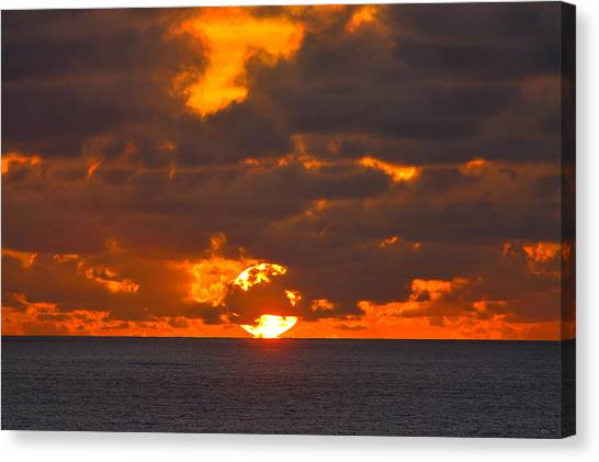 Canvas Print featuring the photograph Sinking In The Sea by Greg Norrell