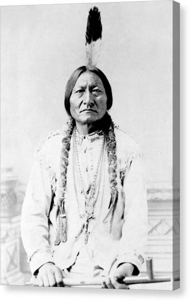 Landmarks Canvas Print - Sioux Chief Sitting Bull by War Is Hell Store