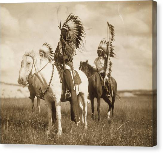 American Cowboy Canvas Print - Sioux Chiefs  by Unknown