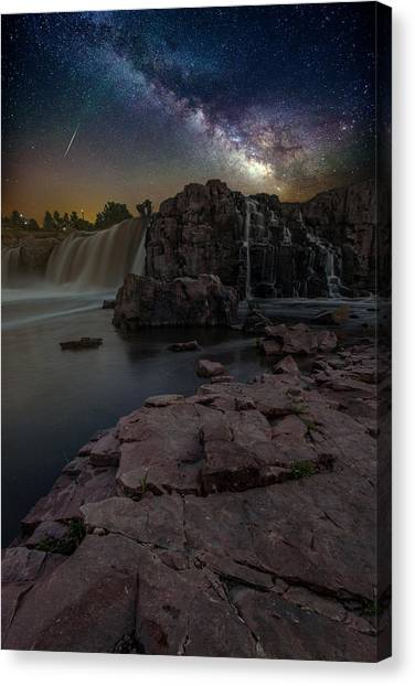 Shooting Stars Canvas Print - Sioux Falls Dreamscape by Aaron J Groen