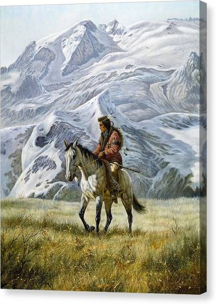 Scouting Canvas Print - Sioux Scout by Gregory Perillo